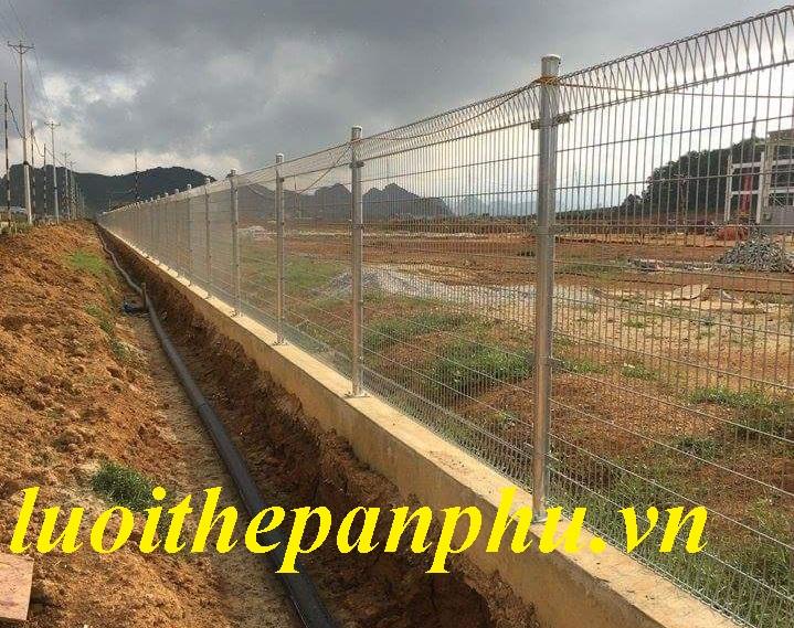Hàng rào lưới thép mạ kẽm