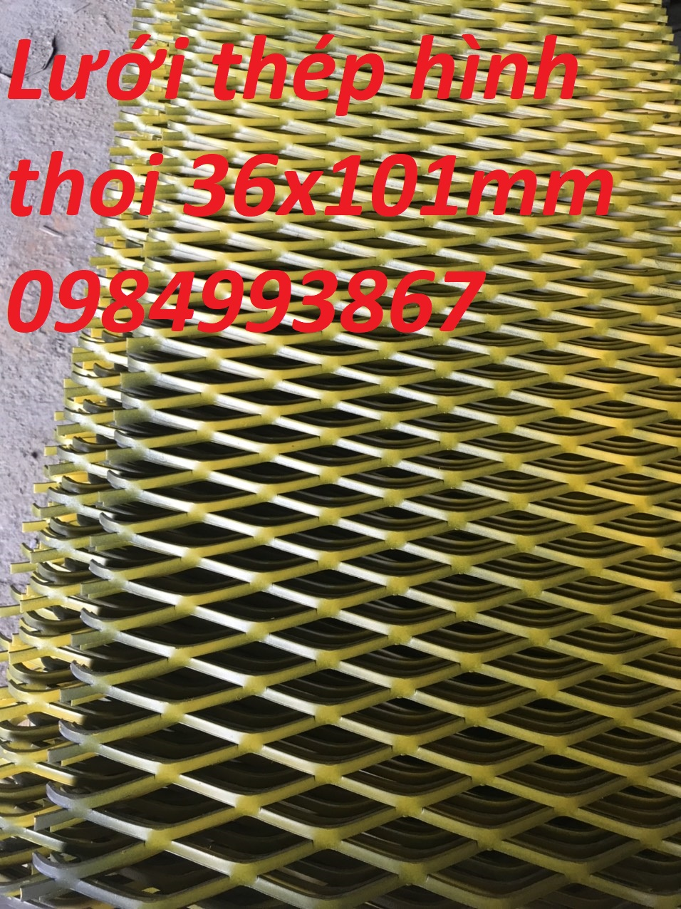 Lưới dập giãn tôn 4mm 36mmx101mm
