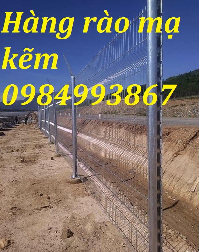 Hàng rào mạ kẽm sơn tĩnh điện Phi 5a 50x150