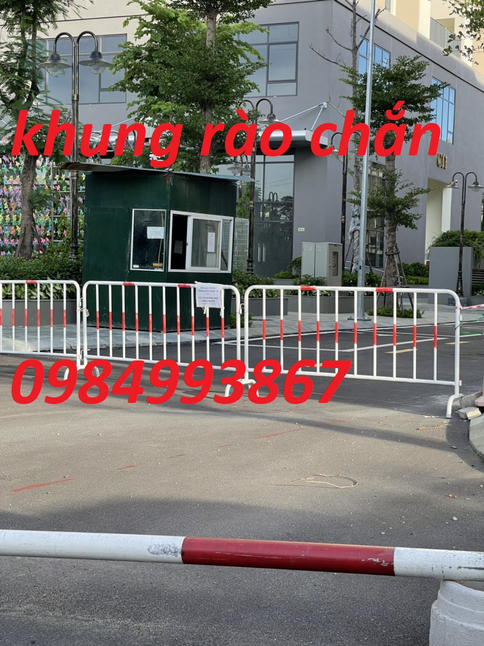 Hàng rào di đông ngăn khu vực cách ly